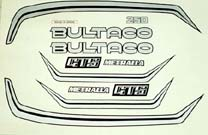 "Bultaco Metralla #203 ""GTX-250"" Restoration decal sets"